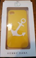 Kenny Dana Iphone 4/4s Fitted Case Iphone White  Raised Anchor Yellow background