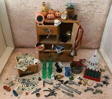 Vintage Miniature Dollhouse Accessories !! 100 Pieces !! Plant Teapot Cat Money