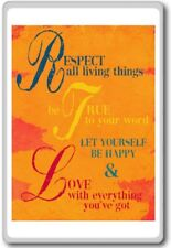 Respect All Living Things, Be True To Your Word… – Motivational Quotes Fridge...