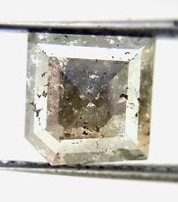 1.96 TCW Gray color Antique Princess Square shape Rose cut Natural Loose Diamond