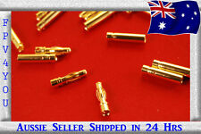 4mm Bullet Gold Connectors 10 pairs (20pc) !!FREE SHIPPING!!
