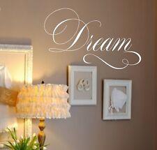 Dream Vinyl Wall Decal- Dream -Vinyl Wall Decal Lettering- Nursery Decor-Bedroom