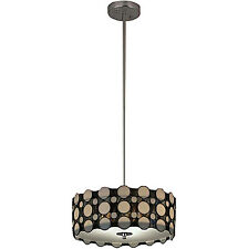 Ceiling Hanging Light Pendant Lighting Fixture Tiffany Style Brushed Nickel