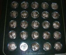 Franklin Mint Football Immortals Hall of Fame Medal Set