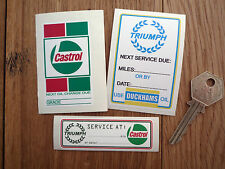 TRIUMPH Service Oil Change stickers Stag Spitfire TR6 +