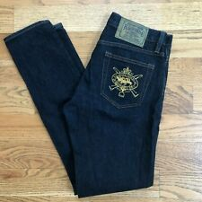 Ralph Lauren Sport Womens Jeans Thompson 360 Skinny Horse Embroidery Size 28