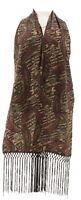 Heidi Daus Divine Miss Psley Scarf Belt Fringe Camel Brown One Size NEW 668-054