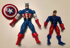 Marvel American Heroes Set Captain America And Bucky Toy Biz Action Figures 1998