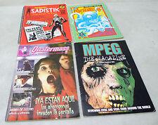 Lotto riviste cinema horror fantascienza.MPEG/PSYCHOTRONIC/QUATERMASS/SADISTIK