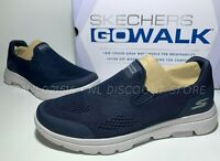 SKECHERS Men's Go Walk Air Cooled Ultra Go Cushioning Shoes ~ Navy ~ Pick Size