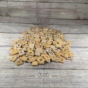 Lot of 273 SCRABBLE Letter Wood Tiles Game Vintage Modern Crafts