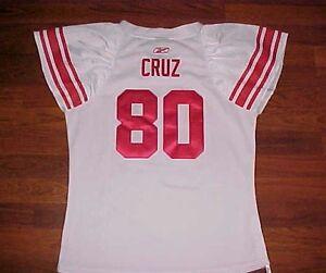 Victor Cruz 80 New York Giants NFL NFC East Reebok Women's White Jersey 2XL New