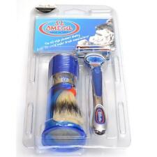 SET COMPLETO DA BARBA OMEGA gillette Fusion setola shaving set kit  F1569.19