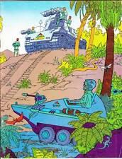 ROBERT KLINE PORTFOLIO 1972 fanzine Sci-Fi, Conan, monsters signed by Gary Groth