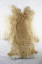 Genuine rabbit fur skin color naturally fur Crafts-tanned brown
