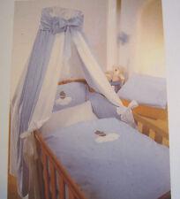 süße Baby Bettausstattung Komplettset: HIMMEL NESTCHEN BETTWÄSCHE blau Teddy