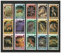 British Virgin Islands 1985 Official Opt On Marine Life Set/15 Stamps MUH 12-15