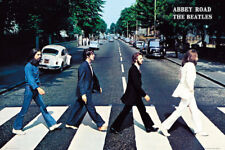 (LAMINATED) THE BEATLES ABBEY ROAD CROSSING POSTER (61x91cm) PRINT NEW ART