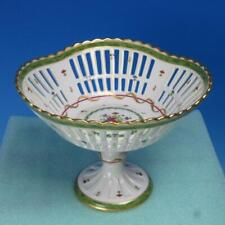 Haviland Limoges France - Vieux Paris Green - Reticulated Footed Fruit Compote