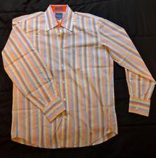 "Faconnable Dress Shirt Button Down 16"" Collar 33/34"" Sleeve Stripes"