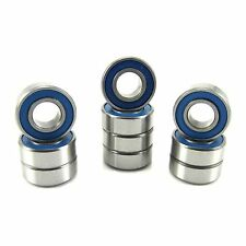 (10) MR128 2RS (8x12x3.5) ABEC-3 Chrome Steel Blue Seal Ball Bearings