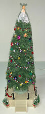 Lemax Village Musical Fibre Optic Lighted Christmas Tree Retired 2001 Excellent