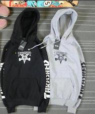 Men's hoodie sweater Hip-hop skateboard Thrasher Black Fleece Sweatshirts