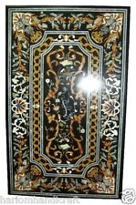 2.5'x5' Marble Dining Center Table Top Stone Mosaic Inlaid Pietradura Work H2068