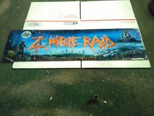 zombie raid arcade glass marquee