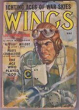 WINGS Summer 1941 Aviation Pulp Mag - DAVID GOODIS - Fighting Aces of Wars Skies