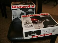 2 NIB KITCHEN AID ATTACHMENTS POURING SHIELD AND SLICER & SHREDDER