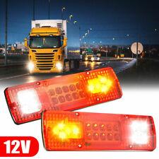 2PCS 19LED Tail Light Car SUV Truck Trailer Stop Rear Reverse Turn Indicator LED