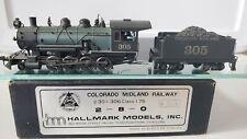 VINTAGE HO BRASS HALLMARK MODELS COLORADO MIDLAND PIKES PEAK 2-8-0 305 CLASS 175