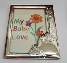STERLING  ENGRAVABLE BABY GIRL PICTURE FRAME