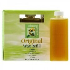 Original Large Wax Refill Hair Removal by Clean+Easy 12 Pack Natural Blend