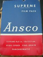 VINTAGE ANSCO FILM PACKS DATED 1940'S PACKS ARE SEALED