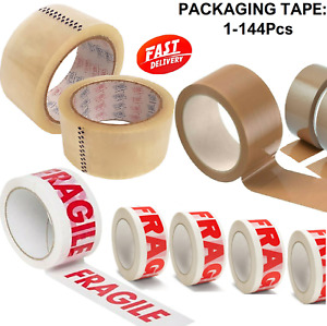 Parcel Packing Tape 66M x 48MM Strong Packaging Sealing sellotape Clear Brown UK