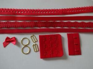 Bh Kurzwarenpaket rot 3,bra findings kit