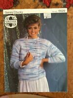 Womens knitting patterns.jumpers.size 30-42 inch bust.Chunky.Sirdar.