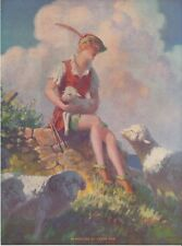 Edward Eggleston Playmates of Peter Pan Lithograph 1936 Vintage Sutherland Press