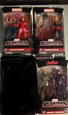 MARVEL LEGENDS Lot 3 ODIN BAF HAWKEYE,  SCARLET WITCH &  CAPT. MARVEL  MOC