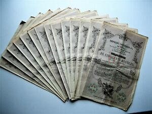 1914 Russian 50 Roubles 5% Bonds with coupons 14 in total, sequentially numbered