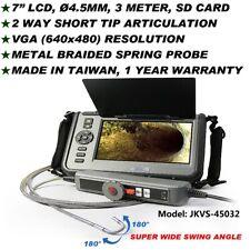 "7"" LCD 2 Way Articulation Φ4.5MM 3M VGA Borescope Videoscope NDT JKVS-45032"