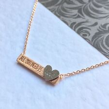 "Rose gold plated ""all you need is love' necklace ,Personalised. Gift card."