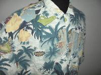 vintage Rainforest Cafe Hawaii Hemd hawaiihemd souvenir shirt 90er Jahre Gr.XXL