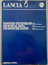 Transmisión caja de cambios de motor de Lancia Delta 1980 gran folleto de datos técnicos