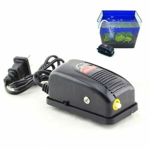 Quiet Silent Aquarium Adjustable Air Pump Fish Tank Oxygen Compressor Aerator
