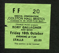 1980 Rory Gallagher Concert Ticket Stub Bristol UK Top Priority