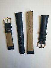 PROMO lot 100 bracelets de montre cuir bleu nuit  . Disponible en 18 mm