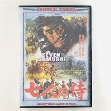 The Seven Samurai (Dvd, 2012) Remastered Uncut Edition - Samurai Cinema - Tested